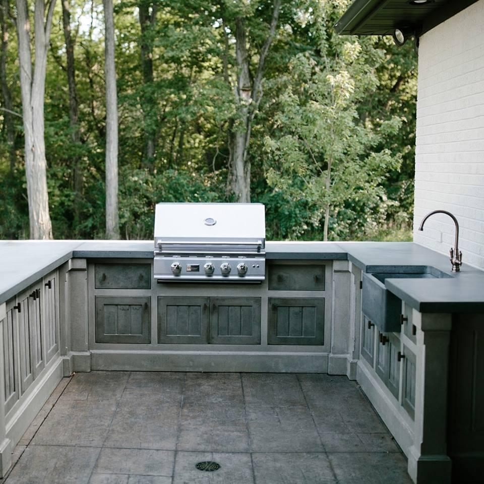 100% Concrete Outdoor Kitchen