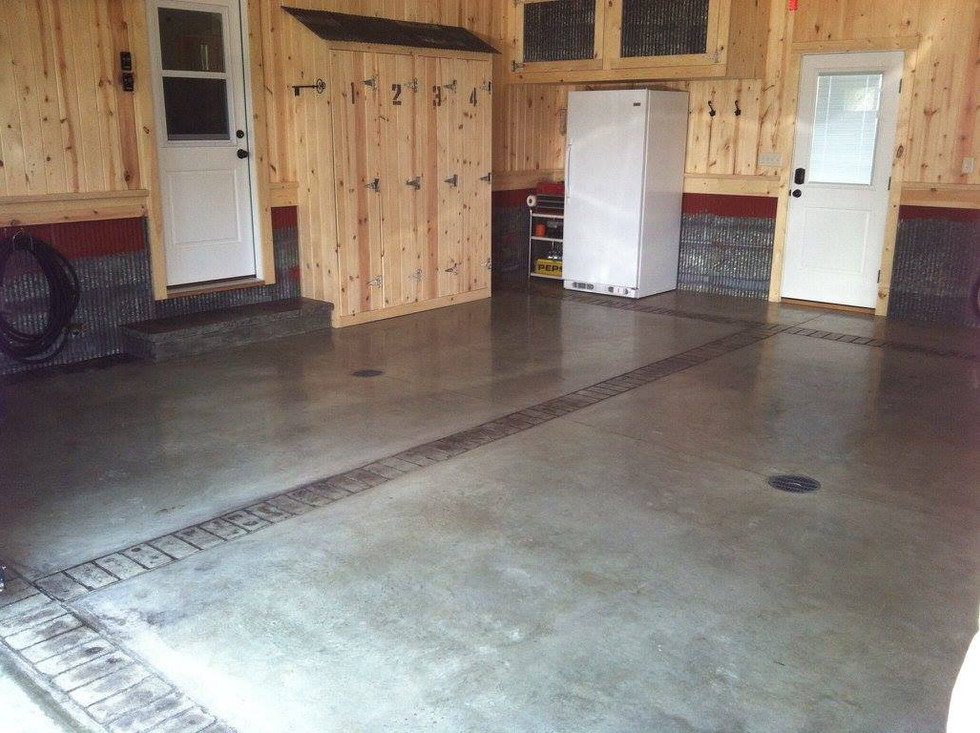 Concrete Stain & Stamp in Garage