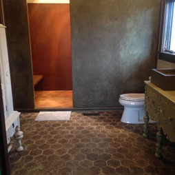 Concrete Paneled Shower