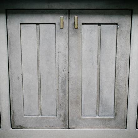 Two Paneled Concrete Cabinet Doors