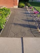 Concrete Walkway w/ Cultured Stone Stamp