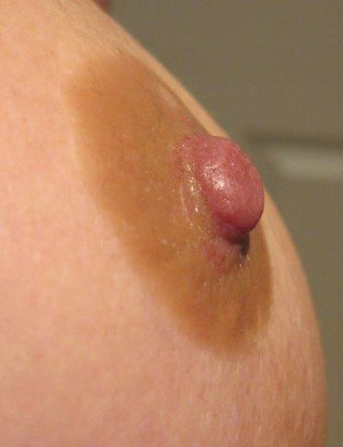 Natural 5mm Tan/Red Prosthetic Nipple