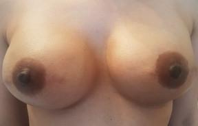 Natural Prosthetic Nipples in Custom Colour - Deep Brown Tones