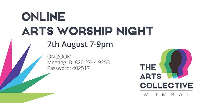 Online Arts Worship Night Banner 7th Aug