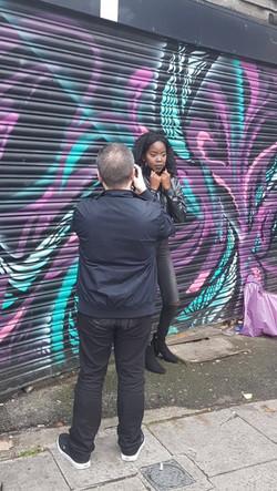 Photoshoot behind the scenes