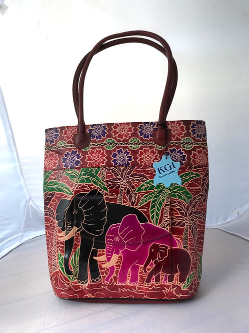 Kikigoga Hand crafted Elephant bag, Brown