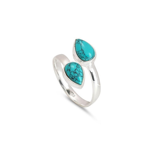 BLUE LEAF RING (002)