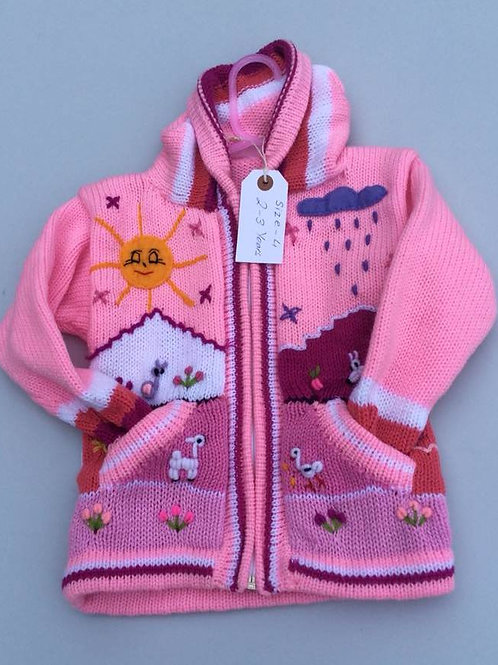 Hand Embroidered Children's Cardigan