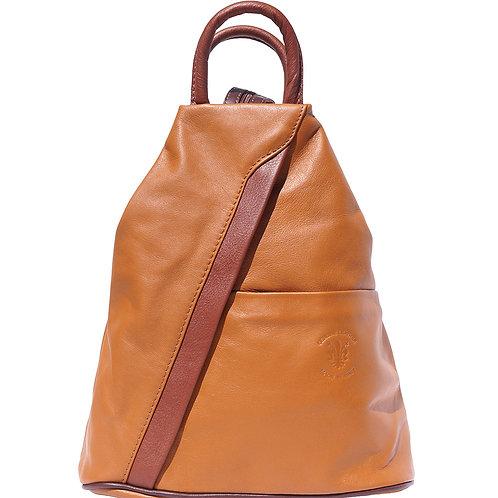 Italian Leather Backpack - Cioccolato Tan