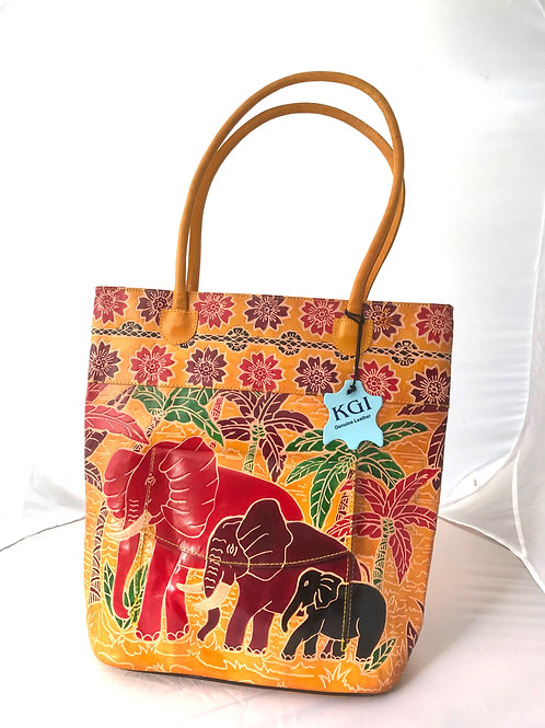 KikiGoga Hand crafted Elephant bag, Yellow
