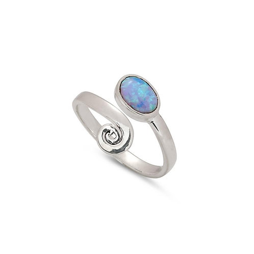 CURLICUE OPAL RING (017)