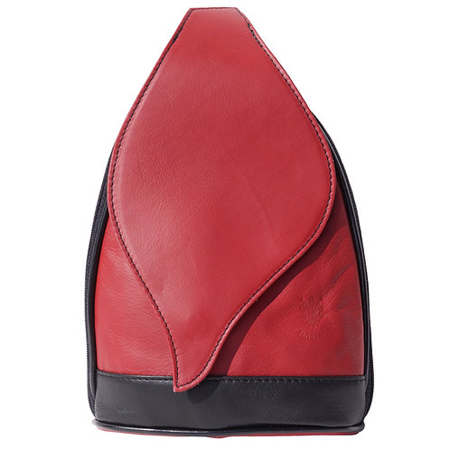 Tear drop, red with dark brown stripe