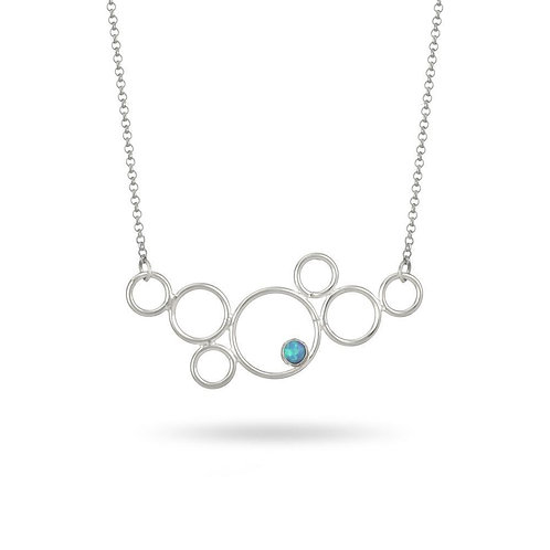 MULTI CIRCLE OPAL NECKLACE (004)