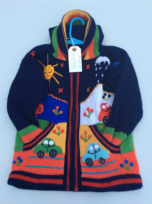 Hand Embroidered Children's Cardigan