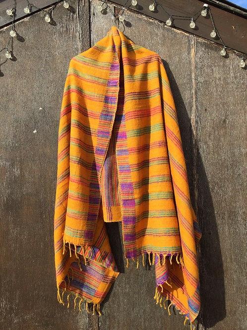 Tibetan Yakwool Blankets/Shawls Reverse able