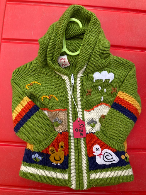 Children's Cardigan, Green