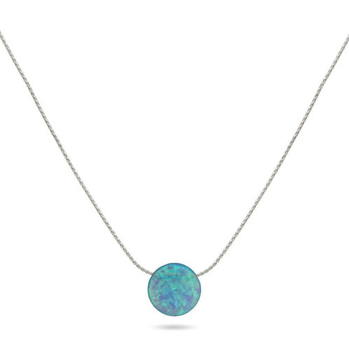 Ocean Blue Opal Necklace (008)
