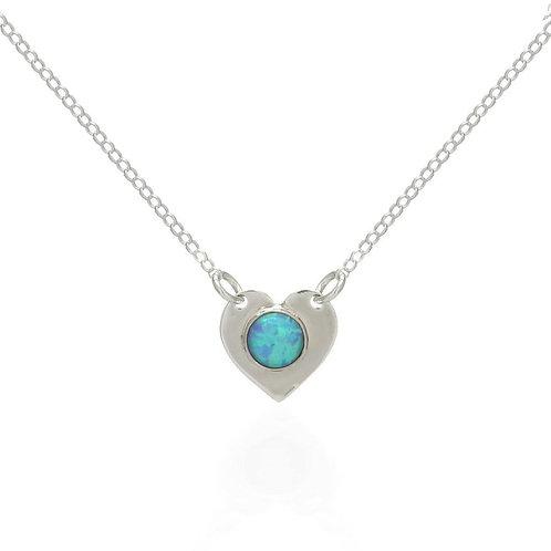 Ocean blue heart Necklace (007)