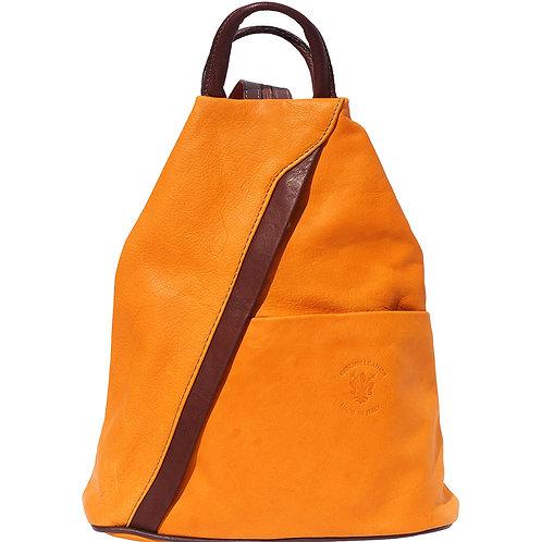 Italian Leather Backpack - Cappuccino Tan
