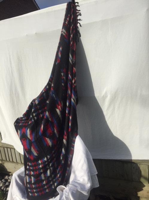 Tibetan Yak wool Shawl Reversible