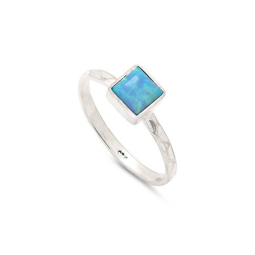 SQUARE OPAL RING (019)