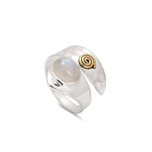 Moonstone Spiral Ring (017)