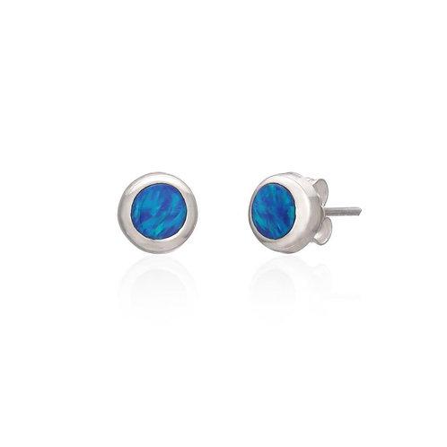 Dark Blue Opal Studs (004)
