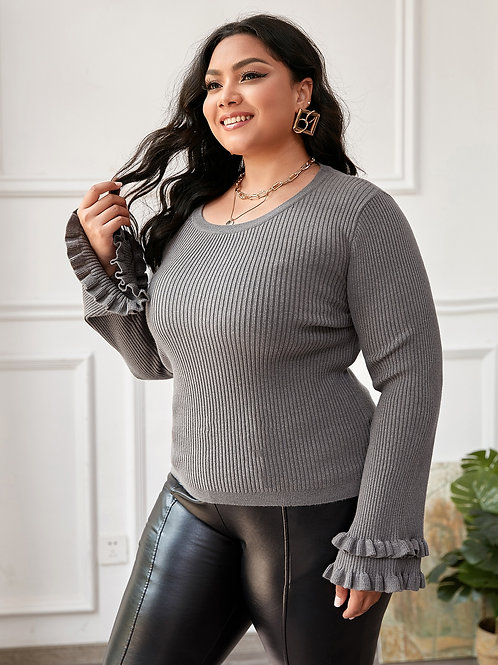 Jumper with Frill Sleeve