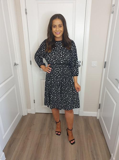 Black & White Spot Dress