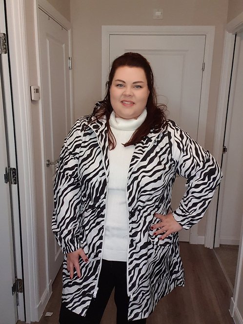 Zebra Print Raincoat