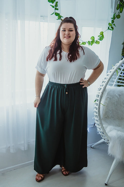 Green Wide Leg Trouser