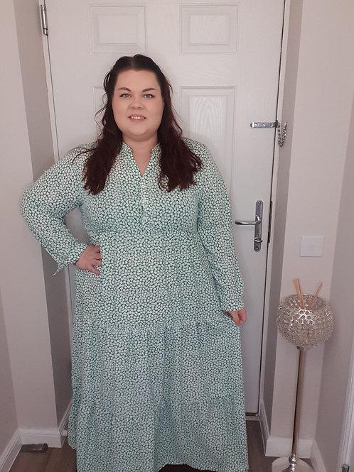 Maxi Tiered Shirt Dress