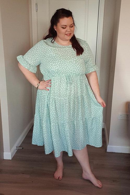 Tie Waist Tiered Dress