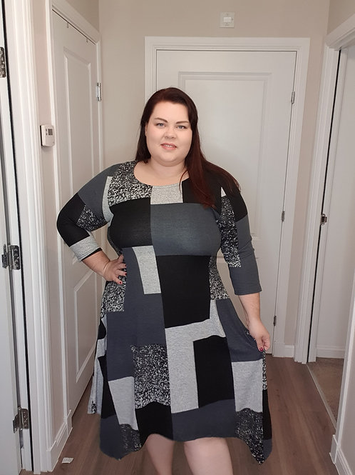 Patchwork Dress with Pockets
