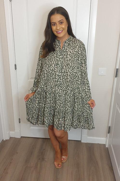 Smock Print Tunic Dress