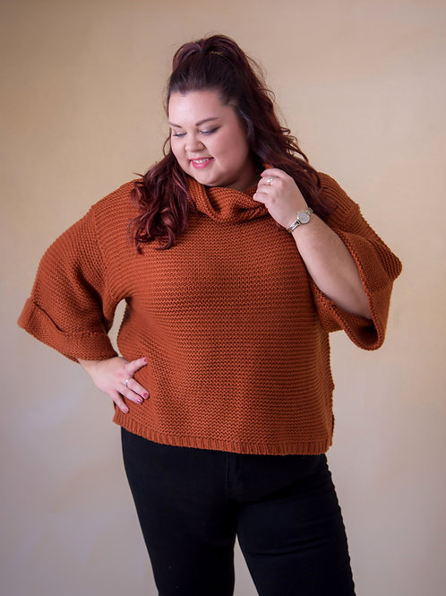 Roll Neck Poncho Jumper