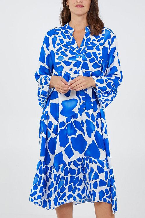 Giraffe Print Midi Dress
