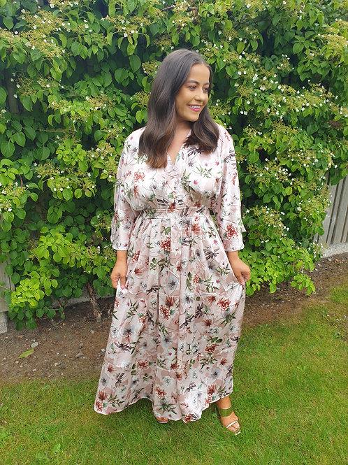 Kimono Satin Dress