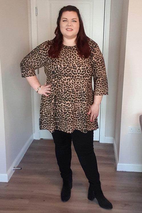 Leopard Print Swing Top