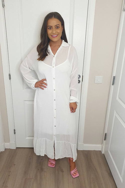 Cheesecloth Dress with Cami