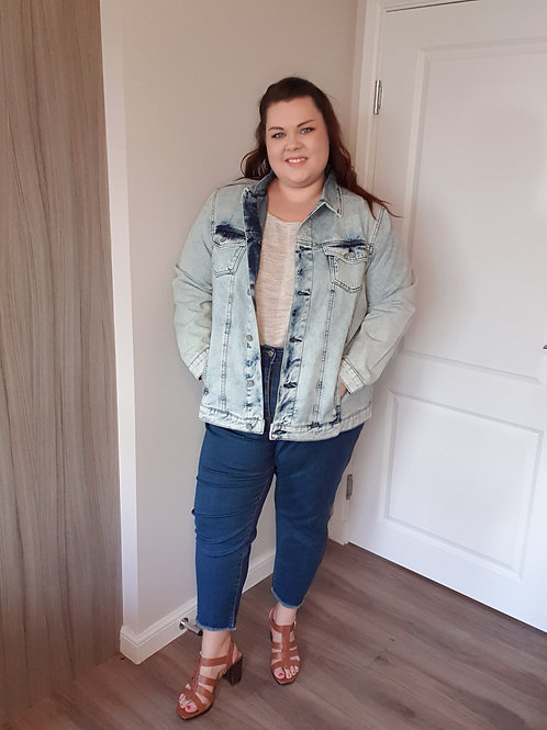 Light Blue Oversized Denim Jacket