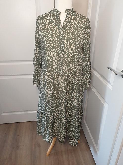 Midi Print Shirt Dress