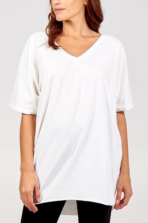 Longline V-Neck T-Shirt