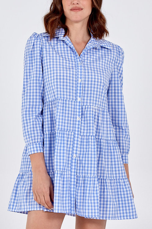 Gingham Tiered Shirt