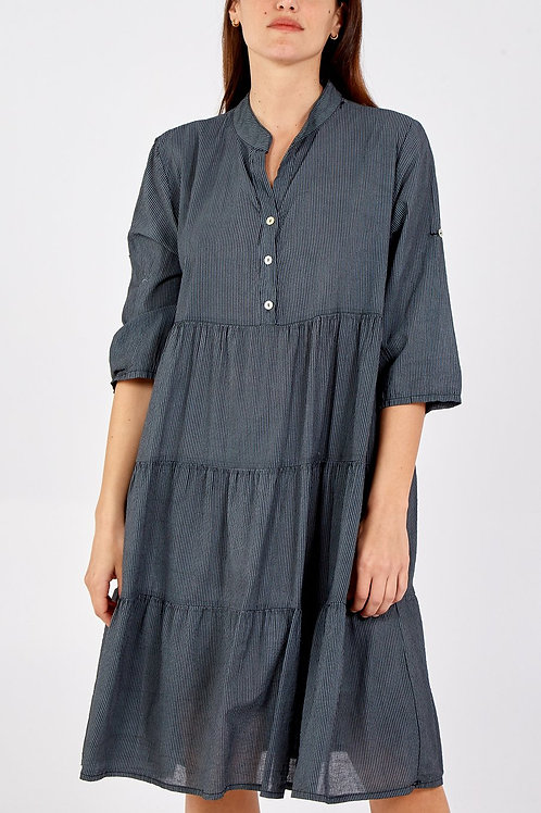 Midi Tiered Shirt Dress