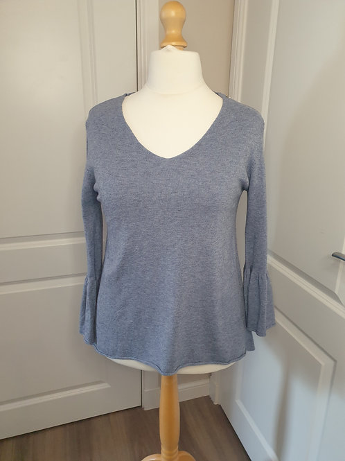 Soft Knit Top with Frill Sleeve