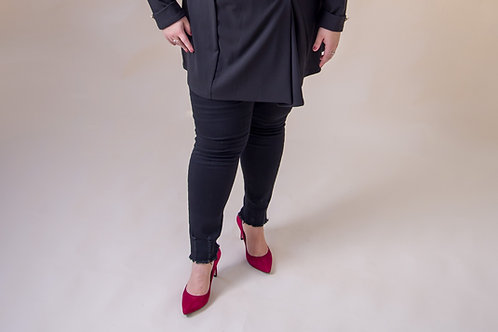 Black Jeans with Ripped Detail