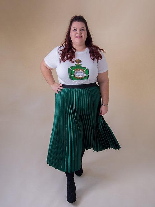 Metallic Emerald Green Skirt