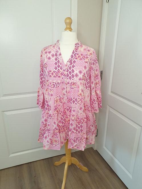 Hot Pink Pattern Tunic