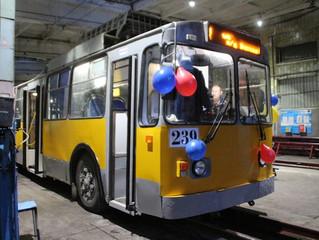 Еще один модернизированный троллейбус вышел на маршруты Омска